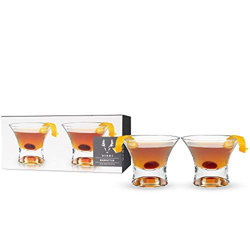 Viski Raye: Manhattan Glasses, One Size