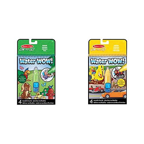 Melissa & Doug Water Wow Animals Blocco da Scoprire con Acqua, Multicolore, 5376 & Water Wow Blocco da Scoprire con Acqua, Multicolore, 5375