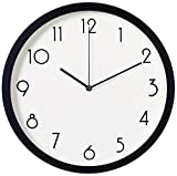 Fzy.bstim Silent Wall Clock Non Ticking,Minimalist Wall Clock Decorative Living Room,Office/Living Room/Kitchen Clock Battery Operated,12 inch