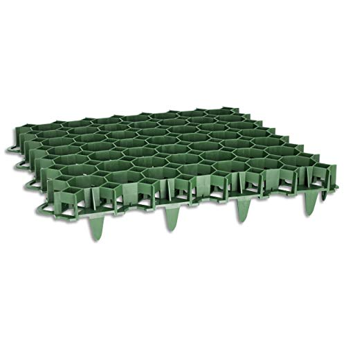 Wohnkult 10 Stück Rasengitter aus Kunststoff grün 50 x 50 x 4 cm Rasengitterplatten Rasenwaben Bodenwaben Paddockplatten