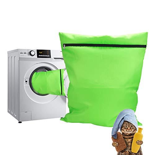 TsunNee - Bolsa de lavandería para Mascotas, Bolsa de Lavado para Perros, Gatos, para Toallas, Mantas, Juguetes, Color Verde