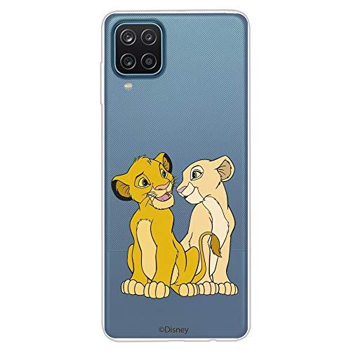 Étui pour Samsung Galaxy A12 Officiel du Roi Lion Simba et Nala Silueta Protégez votre mobile avec la coque pour Samsung en silicone officielle de Disney.