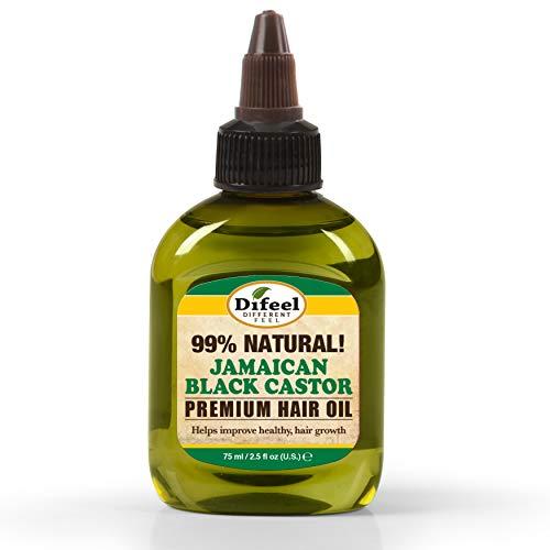 Difeel Aceite para el cabello premium 99% natural - Aceite de ricino negro jamaicano 75 ml