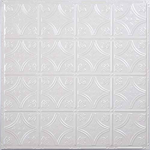 American Tin Ceilings Nail Up Kit, Pattern #3, 5 Pack (24' x 24', Bright White Gloss)