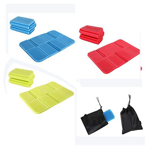 N/C 3 Stück Thermo Sitzkissen Outdoor Faltbar,sitzkissen wasserdicht,Sitzunterlage Outdoor Kinder Sitzmatte(Grün, Rot, Blau)