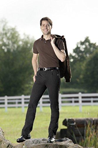 USG Herren Jodhpurreithose Philipp Vollbesatz mit 2 Fronttaschen / 1 Gesäßtasche/Frontfalte, Größe 50, schwarz