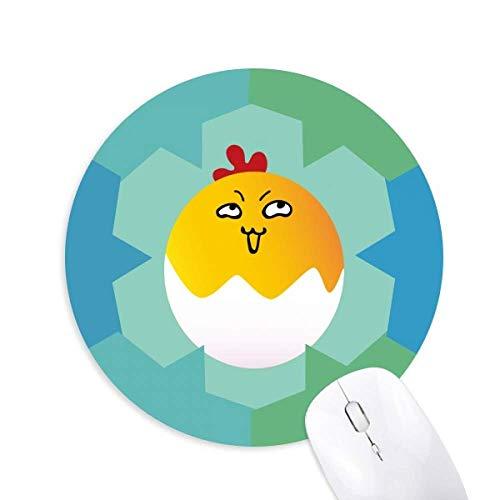 Mauspad, Motiv Ei Insidious Lovely Emoji, rund, Gummi, Blaue Schneeflocken