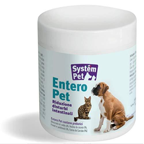 SYSTEM PET Entero - Mangime complementare in compresse per Cani e Gatti disinfiammante intestinale Contro la diarrea nei Cani e Gatti 130 gr Barattolo   100 compresse