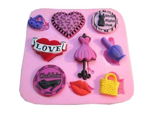 Fondant Cake Decorating Tools Liefde Snoep Bag Rok Vorm Jelly Pudding Cake Mold Chocolade Bakken DIY Decoratieve Molding Vloeistof roze