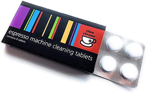 Cino Cleano Espresso Machine Cleaning Tablets 8 Count