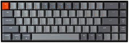 Keychron K6 68-Key Wireless Bluetooth/USB Wired Gaming Mechanical Keyboard, White LED Backlight N-Key Rollover Compact 65% Layout Keyboard for Mac Windows, Optical Blue Switch