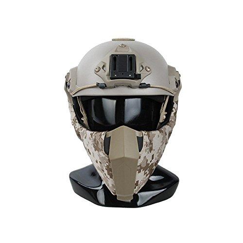 TMC Máscara de airsoft facial modular para mandíbula con protección táctica para la parte inferior de la cara para Airsoft Paintball – AOR1