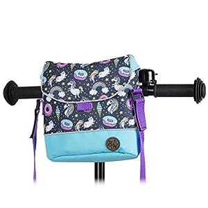 BambinIWelt Lenkertasche für Roller und Fahrrad, Fahrradtasche für Kinder, wasserabweisend, mit Schultergurt, für alle Puky Räder und Roller (Modell 24)