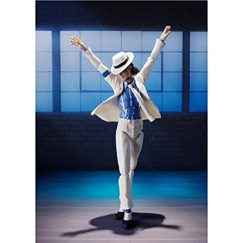 Juguetes De Animedios Masculino Michl Michael Jackson Smooth Criminal Moonwalk Figura De Acción Antigravedad Modelo Toy Doll Garage Kit Decoración 15Cm