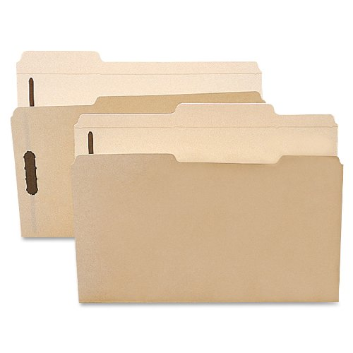 "Smead Fastener File Folder, 2 Fasteners, Reinforced 1/3-Cut Tab, 1-1/2"" Expansion, Letter Size, Manila, 50 per Box (14595)"