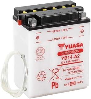 Batterie YUASA YB14 A2 (DC) offen ohne Säure, 12V|14Ah|CCA:175A (134x89x166mm) für Arctic Cat TBX 4x4 500 Baujahr 2010