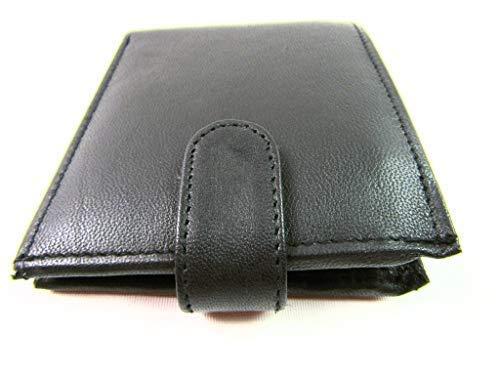 Homme & Femme Haute Qualité Noir Portefeuille Supoort Carte de Crédit en Cuir Pochette Sac à Main