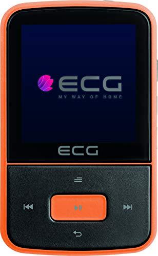 ECG PMP 30 8GB Black&Orange MP3/MP4-Player – Speicher 8 GB; 30 Vorwahlen für FM-Sender; MP3 von der Micro SD-Karte; Diktiergerät; Sportclip; Tastensperre; USB 2.0; In-Ear-Kopfhörer der Prämienreihe