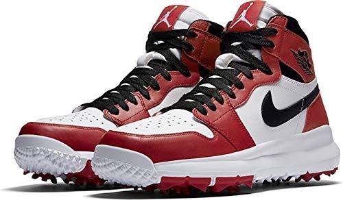 [ナイキ] Air Jordan 1 Retro high Golf メンズ White/Varsity Red/Black ジョーダン ゴルフシューズ (28.5) [並行輸入品]