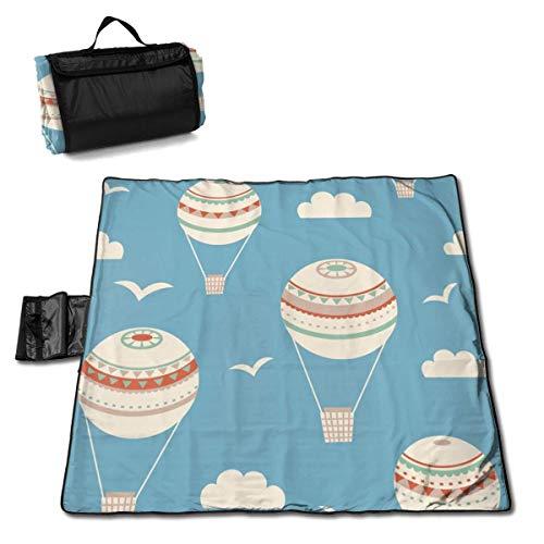 GuyIvan Picknickmatte Handliche Strandmatte Picknickdecke 145X150cm Nahtloses Muster mit Luftballons Vektor-Illustration