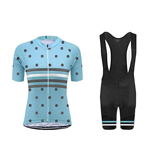 Uglyfrog Damen Radtrikot Fahrrad Trikot Kurzarm Radhose Fahrradbekleidung Set Quick-Dry UV-beständig