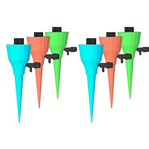 Lindaeshop Sistema de riego automático por goteo, kit de estaca de riego automático para plantas, flores y plantas de jardín, dispositivo de riego automático, presión constante ajustable agua