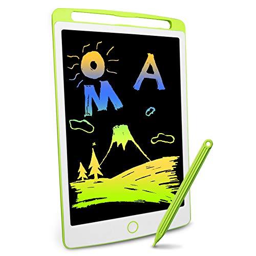 Preisvergleich Produktbild Richgv 10 Zoll LCD Schreibtablett,  LCDWriting Tablet,  EIN Schlüssel zum Löschen Funktion,  Doodle Malen Board,  Ultradünn und tragbar,  Geschenk für Kinder,  Schul Familie Erwachsene Büro (Grün&Weiß)