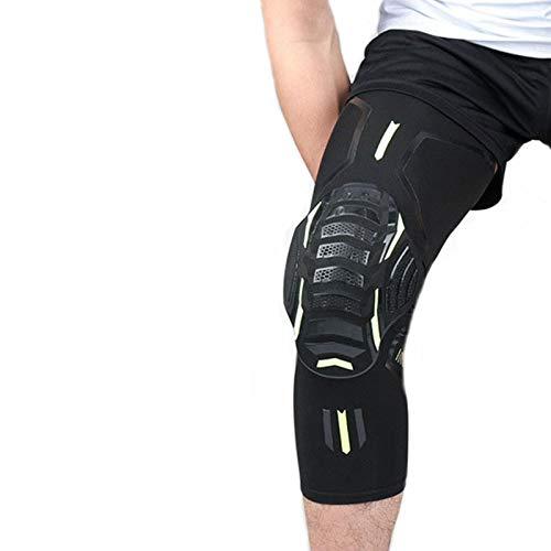 QWET Rodilleras deportivas transpirables, 3D uniformemente presurizadas con patrón de escala integrado, bloque anticolisión, baloncesto, voleibol y otros deportes, negro, XL
