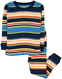 Image of Cotton Multi Colored Striped Pajama Set for Boys - See More Colors