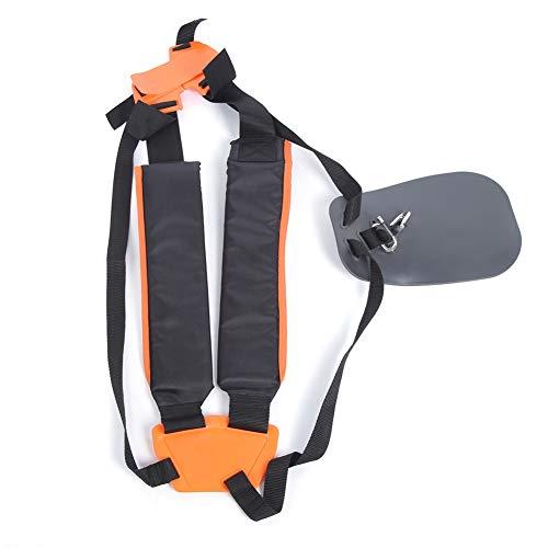 Correa de hombro doble Correa de arnés de podadora de jardín Cinturón de nylon con almohadilla antifricción para recortadores, desbrozadoras, desbrozadoras, reduce el peso de las manos y las muñecas.