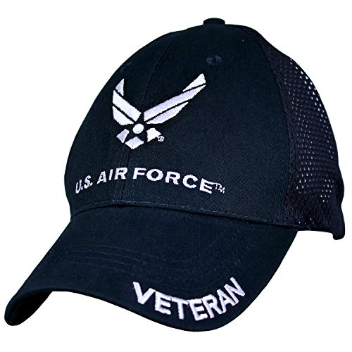 EAGLE CREST U.S. Air Force Veteran Navy Blue Mesh Baseball Hat