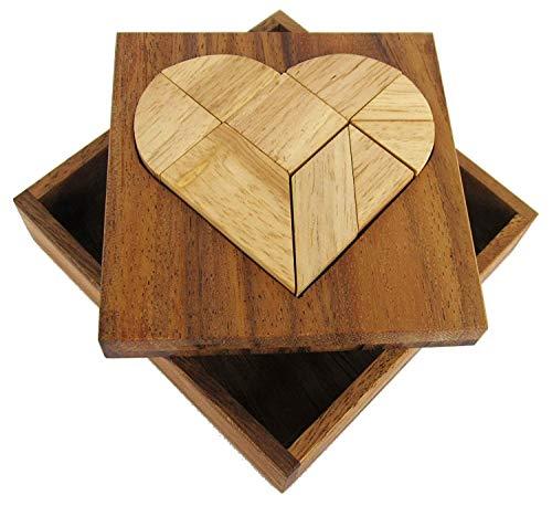 LOGOPLAY Tangram 'Herz' - Legespiel - Denkspiel - Knobelspiel - Geduldspiel - Logikspiel aus Holz
