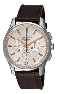 Zenith Men's 03.2110.400/01.c498 El Primero 36'000 VPH Silver Sunray Chronograph Dial Watch