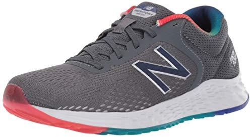 New Balance Kid's Fresh Foam Arishi V2 Lace-Up Running Shoe, Lead/Techtonic Blue, 13.5 W US Little Kid