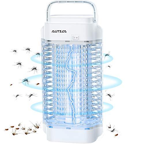 AUTSCA Lámpara Antimosquitos Eléctrico UV 18W, LED Mosquito Lámpara Trampa, 4000V Potencia...