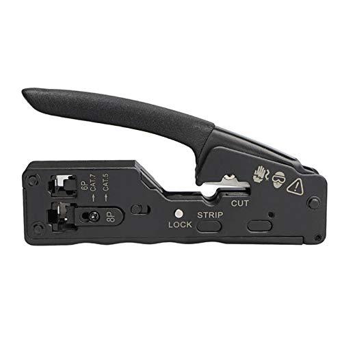 Cobeky Cable de red Crimper RJ45 Crimp Tool Cutter Stripper para Rj45 Cat7 Cat6 Cat5 Rj11 Rj12 Conector Crimper Alicates