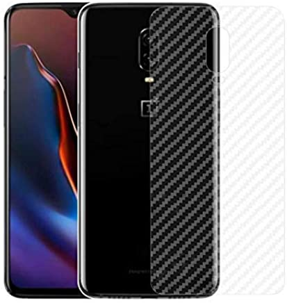 Valueactive Back Screen Protector Film Carbon Fiber Finish Ultra Thin Scratch Resistant Safety Protective Film for OnePlus 7 (Transparent)