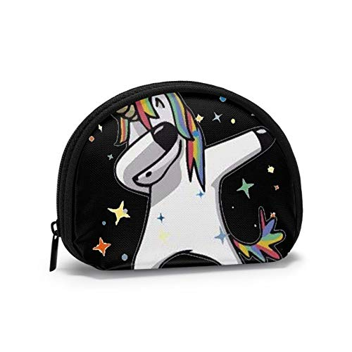 Dab Hip Hop Funny Magic Unicorn Cosmetic Bag for Women Adorable Roomy Makeup Bags Travel Toiletry Bag Accessories Organizer