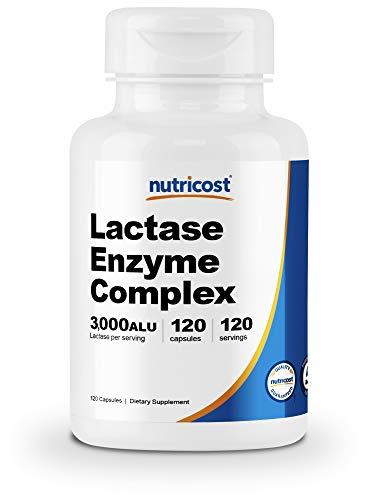 Nutricost Lactase Enzyme Complex 3,000 FCC ALU, 120 Veggie Capsules - Non-GMO, Gluten Free, 120 Servings