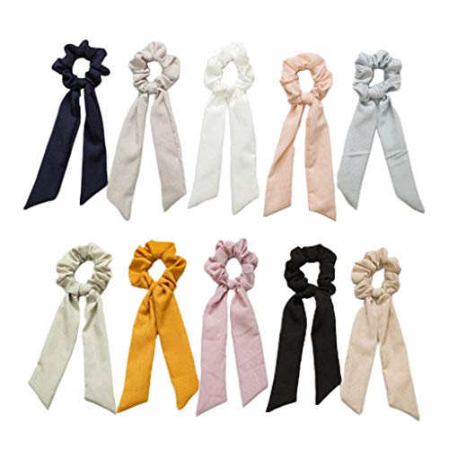 IPOTCH 10 Piezas Lazos para Mujer Cinta para Goma para Pelo Corbatas Niñas Elásticos de Bebé