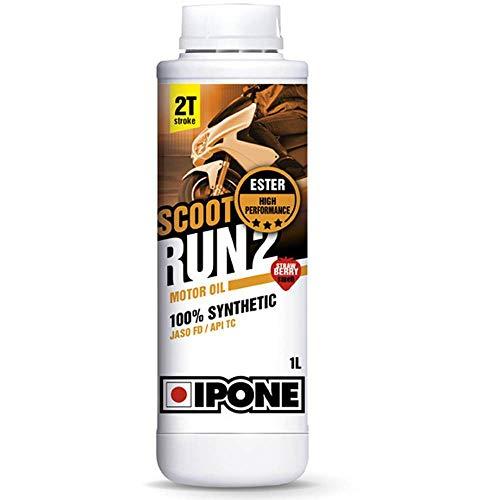 TOP RACING Aceite mezcla IPONE Scoot RUN2 2T 100% Synthetic perfume fresa 1 litro