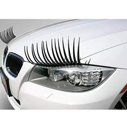 2PC Headlight Black Eyelash Sticker Car Eyelashes Car False Eyelashes Car Sticker Motorcycle Car Styling Accessories Automobiles