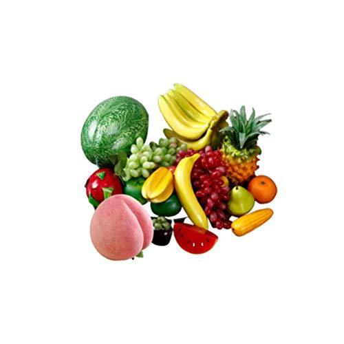 CLISPEED 20 Piezas de Simulación de Frutas Coloridas Frutas Espuma Accesorios de Frutas Accesorios de Fotos para La Tienda de Hogar Cocina Fiesta Fotografía de Bodas (Estilo Aleatorio)