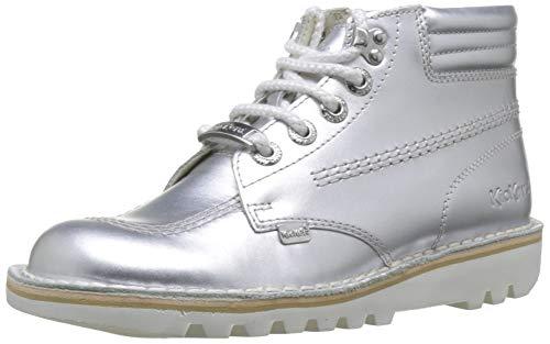 Kickers Damen Kick Throwback Kurzschaft Stiefel, Silber (Silver Silver), 38 EU