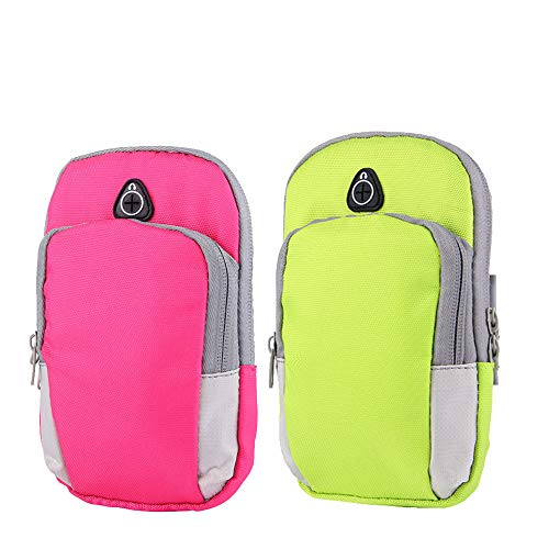 Outdoor Sports Multifunctional Armband Waterproof Best Running Sports Mobile Arm Bag Cell Phone Bag Key Holder for iPhone X 8 7 Plus 6S Plus, for Running, Walking Hiking, Biking Men & Women