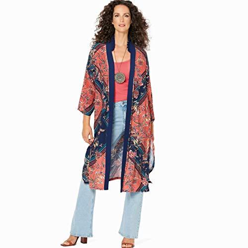 Burda Schnittmuster, 6244, Kimono selber nähen [Damen] Level 2 für Anfänger