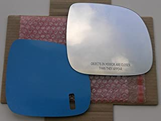 New Replacement Mirror Glass with FULL SIZE ADHESIVE for 2007-2010 VOLKSWAGEN TOUAREG - AUDI Q7 Passenger Side View Right RH