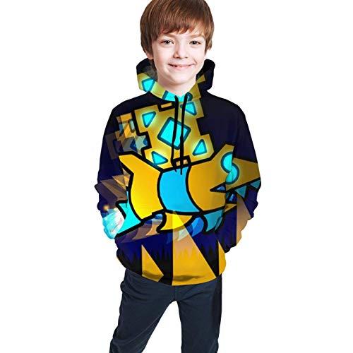 Felpe con Cappuccio Maglie a Manica Lunga Youth Cube Gioco G-Eometry D-Ash Stampa 3D Ragazzi e Ragazze Pullover