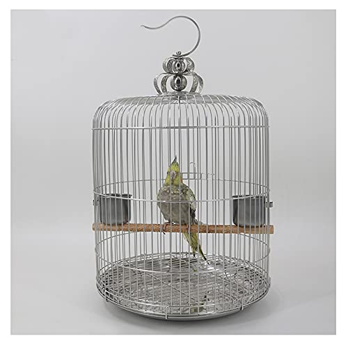 Pets Birds Cage Stainless Steel Birdcage Large Round Starling Mynah Thrush Black Phoenix Peony Luxury Villa Parrot Cage Cockatiels Lovebirds Finches Budgies Small Parrots ( Size : Type 34 )