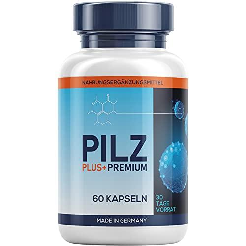 PILZ PLUS+ PREMIUM - Natürliches Nahrungsergänzungsmittel für den Darm - Sehr gute Verträglichkeit - 60 Kapseln (1 Dose)